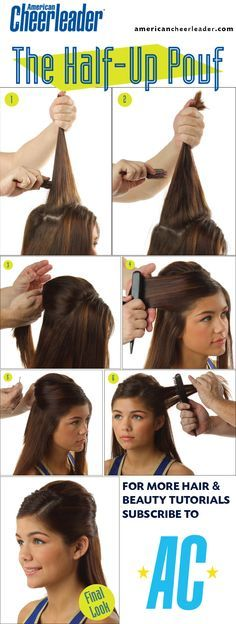 The half-up pouf made easy! #beauty #howto