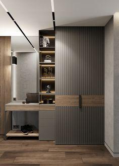 Wardrobe Door Designs, Wardrobe Design Bedroom, Bedroom Bed Design, Bedroom Furniture Design, Home Decor Furniture, Wardrobe Doors, Smart Home Design, Home Room Design, Wadrobe Design