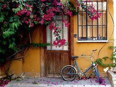 Neve Tzedek, Tel Aviv, Israel, Houses, doors, design, israel, art, architecture, interior design, style
