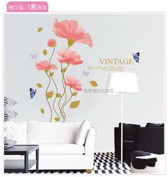 Find More Information about Butterfly decoration Wall decor stickers pink flower butterfly wall decals vinyl stickers home decor quote wall sticker flower,High Quality sticker dandelion,China stickers pro Suppliers, Cheap sticker tattoo from DouDou Wholesale store on Aliexpress.com
