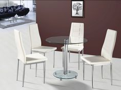 Parma 80cm Dining Table with 4 Nova Chairs