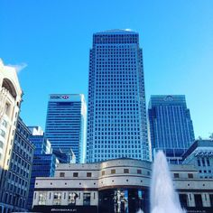 Had a lovely day taking our new intern to her work in #CanaryWharf #London #DiscoverLondon #ISAabroad #ISAeurope #Finance #skyline by london_cultural