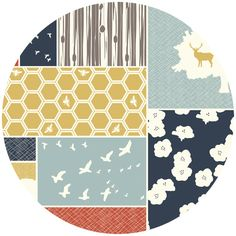 The Grove Organic Canvas by Jay-Cyn Designs for Birch Fabrics Organic Cute fabric - gray and birds