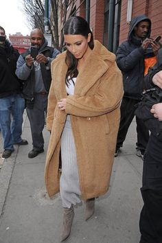 Kim Kardashian in Max Mara Carrera Coat.
