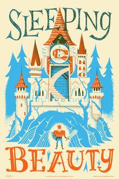 Sleeping Beauty Fairy Tales print / Familytree