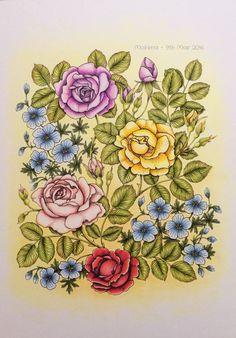 Coloured by Morena Vajak. #mariatrolle #blomstermandala #blomstermandalamålarbok…