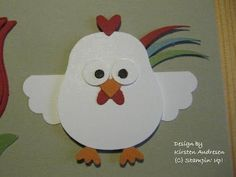Chiken puch art stampin up, using owl puch