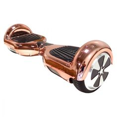 Chrome Rose Gold Electric Self Balance Hoverboard. Literally an excuse to be lazier.