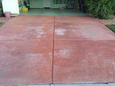 5 years old and failed stain.Kevin Brown with KB Concrete staining was called in to fix it. He chose to use NewLook's SmartColor. Concrete Dye, Concrete Staining, Concrete Coatings, Stained Concrete, Kevin Brown, Before And After Pictures, 5 Years, Tile Floor, Restoration