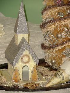 Sparkley Christmas! For more inspiration like this, check out Mikey Fuller at www.ShabbyFrenchCottage.com.