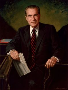 Official White House Portrait of Richard Milhouse Nixon (by James Anthony Wills, ~ President of the United States. (Term: Richard Nixon was the only President of the United States to resign from office. List Of Presidents, Presidents Wives, Greatest Presidents, American Presidents, Republican Presidents, American Soldiers, Us History, American History, History Photos