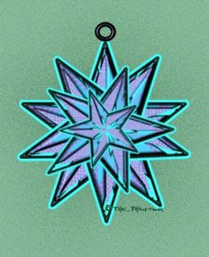 My favorite drawing of a Moravian Star that I've ever come across.  (I found this like 5 years ago at a website that no longer exists.  artist went by The_Phantom)