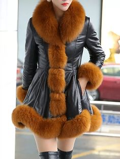 Buy Fur and Shearling Coats For Women from Sicily at Babyonlinewholesale. Online Shopping Fluffy Pockets Paneled A-line Fur and Shearling Coat, The Best Work Fur and Shearling Coats. Discover unique designers fashion at Babyonlinewholesale Fur Coat Fashion, Fur Trim Coat, Cute Coats, Sheepskin Coat, Coat Sale, Shearling Coat, Coats For Women, Winter Outfits, Winter Fashion