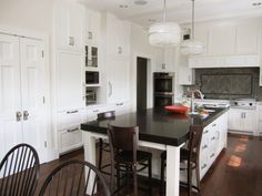 Large kitchen island/seating area