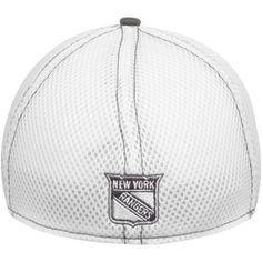Mens New York Rangers New Era White/Gray Two-Tone Neo 39THIRTY Flex Hat