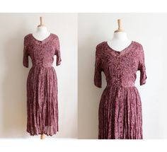 Vintage 1990s Starina Burgundy Chiffon by tobedetermined on Etsy