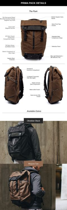 The Ultimate Modular Backpack keeps you organized for daily carry and weekend travels.