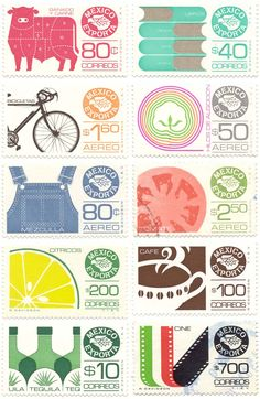vintage stamps via: mexico.