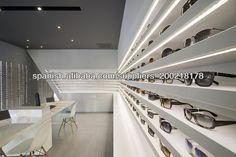 Exhibidor de MDF lujoso para tienda de óptico mostrador elegante para gafas