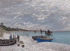 Claude Monet. The Beach at Sainte-Adresse, 1867. Mr. and Mrs. Lewis Larned Coburn Memorial Collection, 1933. Wildenstein, Claude Monet, biographie et catalogue raisonné, 1979.