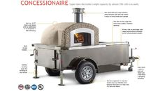 Check out the best pizza oven trailers in the industry. Our pizza oven trailers have been designed and built using the knowledge we gained from years of use Wood Oven Pizza, Diy Pizza Oven, Pizza Oven Outdoor, Pizza Ovens, Four A Pizza, Good Pizza, Wood Fired Oven, Wood Fired Pizza, Mobile Pizza Oven