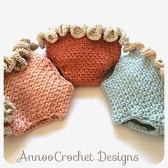Ruffled crochet diaper covers! Free pattern that goes perfect with the crochet tank pattern I have also pinned to this board.