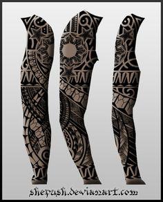 Full sleeve tattoo 12 by shepush.deviantart.com on @deviantART