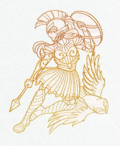 Greek Gods - Athena - Thread List | Urban Threads: Unique and Awesome Embroidery Designs