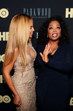 Beyoncé and Oprah at the premiere of 'Life Is But a Dream'