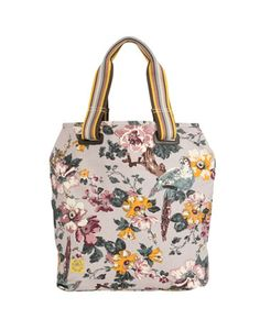 Joules shopper. Grey. Yellow. Floral. Stripes. PERFECTION.