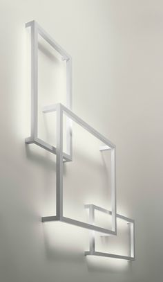 AXO LIGHT | Framework | Fluorescent aluminium wall lamp , design by Manuel Vivian (2013)