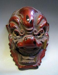 Japanese Masks | Japanese Carved Wood Temple Mask, Demon - JP1N193