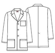 Dickies 81404 Bata Medica Con 3 Bolsas Hombre Xxl A Xxxl Dr Coats, Doctor Coat, Womens Denim Dress, Medical Scrubs, Fashion Sketches, Work Wear, Mens Tops, Jackets, Fashion Design