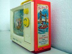 Vintage TV #vintage #tv #fisher#price #toys