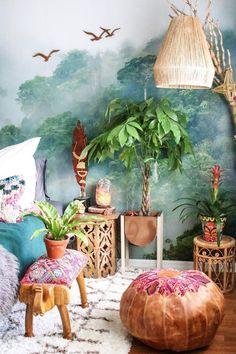 Bohemian Bedroom Decor Ideas Bohemian Bedroom bedroom Bohemian decor ideas - Sites new Bohemian Bedroom Decor, Bohemian Interior, Modern Bohemian, Bohemian Apartment Decor, Bohemian Room, Tropical Interior, Bohemian Living Rooms, Retro Home Decor, Deco Design
