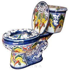 Talavera de #Puebla para crear un inodoro a poco no se les antoja uno en su casa...