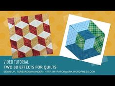 (57) Video tutorial: two 3D effects for your quilt - YouTube