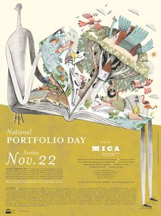 I'm excited to be able to finally share the poster I created for MICA's National Portfolio day this year! I remember the portfolio day posters that once hung in my high school when I was applying to art school, so this was a really fun project for me to work on. Thanks to David Plunkert for the awesome art direction.