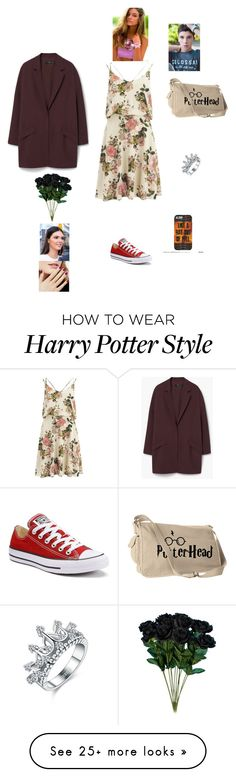 """""""K B S H F Y"""" by queen-kaitlyn on Polyvore featuring VILA, Converse and MANGO"""