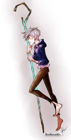 Jack Frost  by ~kaitastic on deviantART Gosh, am i the only one who thinks he's beautiful??? <3