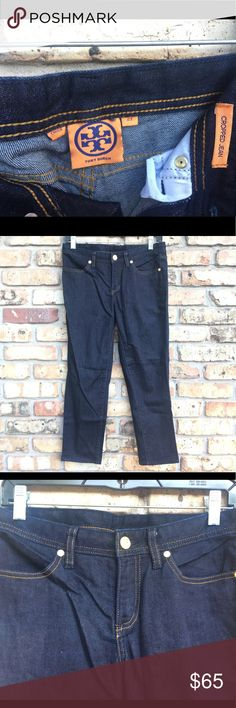 NWOT Tory Burch cropped jeans size 27 NWOT Tory Burch Cropped jeans dark wash size 27. Tory Burch Jeans Ankle & Cropped