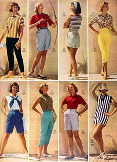 1950s shorts and capris, 1958
