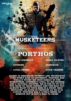 Meet Porthos (Howard Charles) - The Musketeers.