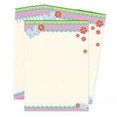 Hou je van snailmailen of schrijf je graag lange brieven met je penvriendinnen? Dit postpapier is dan echt iets voor jou!  Lief setjes briefpapier met polkadots, vlinders en bloemen.  Set van 10 vellen, formaat A5 (21 x 14,8 cm). Dit postpapier is exclusief te verkrijgen bij Lojo.