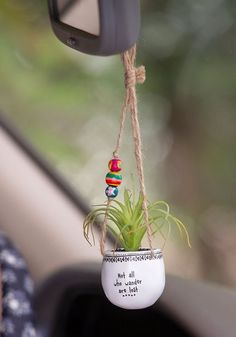 Search results for: 'sale mini hanging succulents bless this car' Natural Life Diy Hanging Planter, Hanging Succulents, Faux Succulents, Diy Planters, Colorful Succulents, Cute Car Accessories, Car Hanging Accessories, Cute Cars, Mason Jar Diy