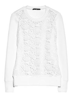 Obsessed with Tibi's neoprene-and-lace combo