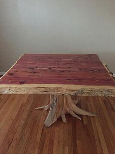 Stump Table Cedar Dining Live Edge Breakfast Nook Small