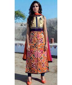 Outstanding Multi-Color Silk Kurti.