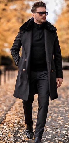 winter outfits men Awesome 40 Lovely Work Outfit I - winteroutfits Business Casual Dresscode, Fashion Business, Business Casual Dresses, Men's Business Outfits, Winter Mode Outfits, Winter Fashion Outfits, Outfit Winter, Summer Outfits, Black Outfit Men