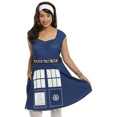 e7b3a62003 Doctor Who TARDIS Cosplay Dress Plus Size Hot Topic ( 42) ❤ liked on  Polyvore